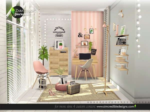 Zara Study set by SIMcredible at TSR image 1677 Sims 4 Updates
