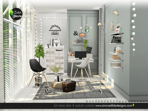 Zara Study set by SIMcredible at TSR image 1697 Sims 4 Updates