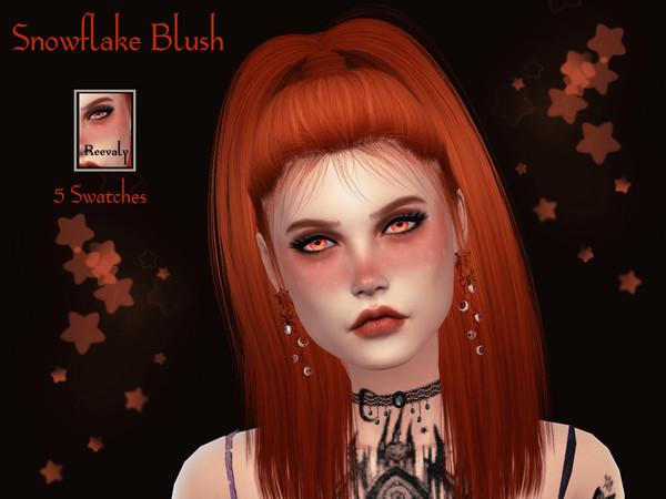 Sims 4 Snowflake Blush by Reevaly at TSR