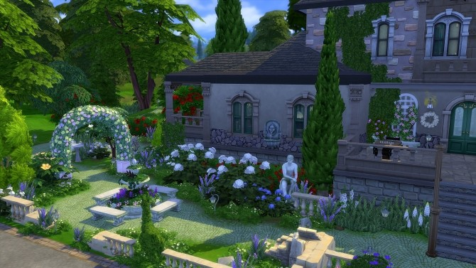 Sims 4 The Old Manor by Angerouge at Studio Sims Creation
