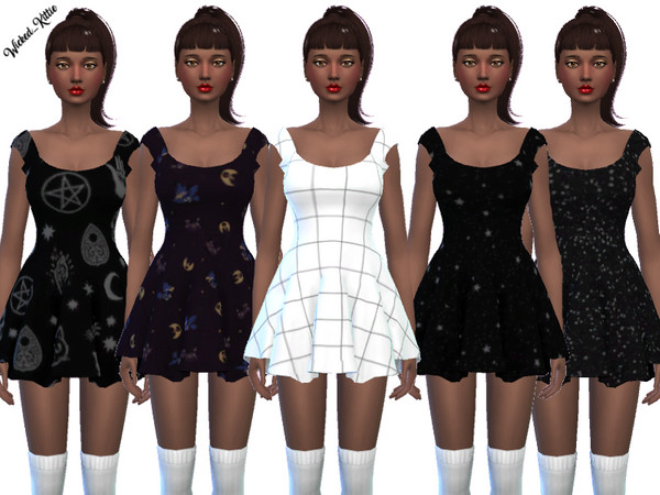 Fun Mini Dresses by Wicked Kittie at TSR image 1712 Sims 4 Updates