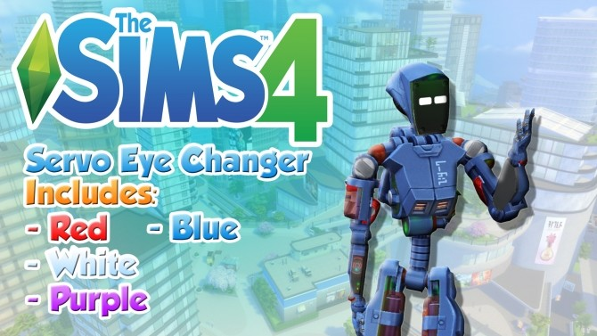 Sims 4 Servo Eye Replacer by Myfharad at Mod The Sims