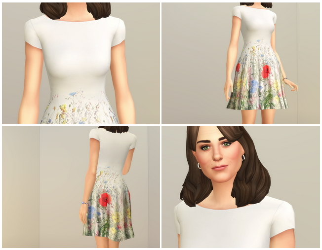 Sims 4 Wild flower Dress at Rusty Nail
