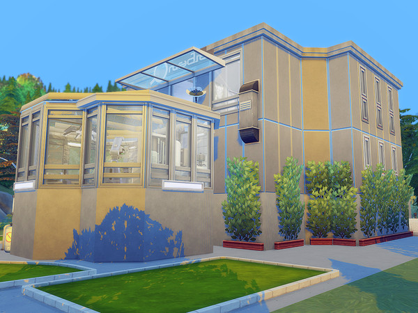 Sims 4 Tech & Bio Center by Ineliz at TSR