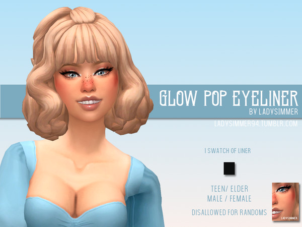 Glow Pop Eyeliner by LadySimmer94 at TSR image 1816 Sims 4 Updates