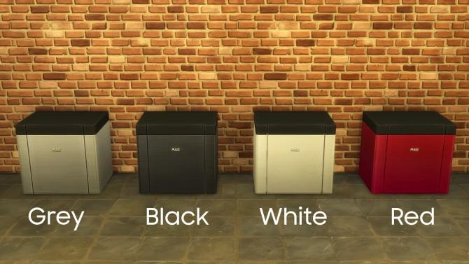 Sims 4 H&B MiniChef   Counter Slot Mini Fridge by littledica at Mod The Sims