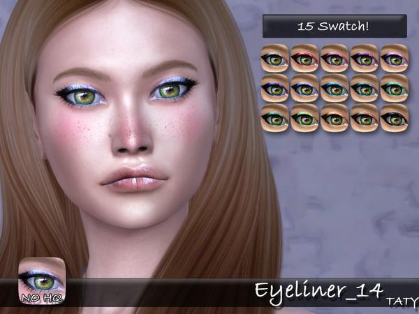 Sims 4 Eyeliner 14 by tatygagg at TSR