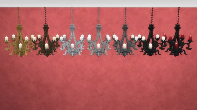 Sims 4 Ornate Ceiling Candleholder by TheJim07 at Mod The Sims