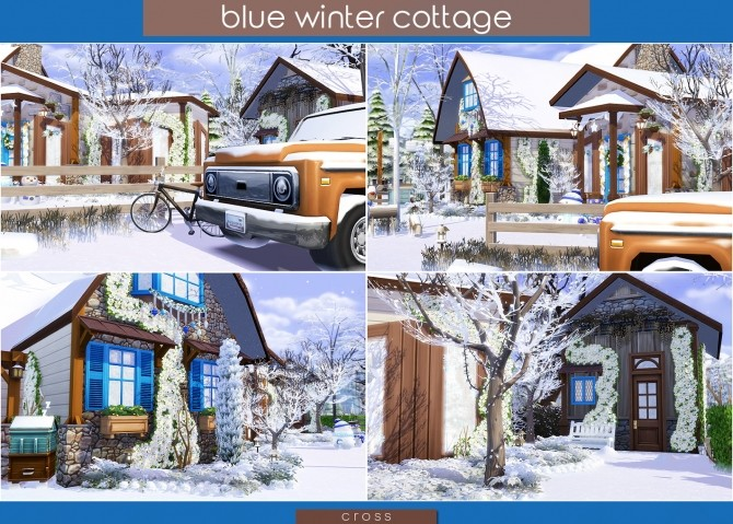 Blue Winter Cottage by Praline at Cross Design image 1995 670x479 Sims 4 Updates