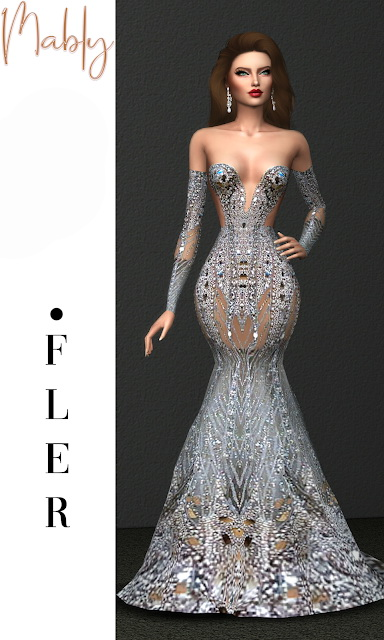 Sims 4 FLER GOWN at Mably Store
