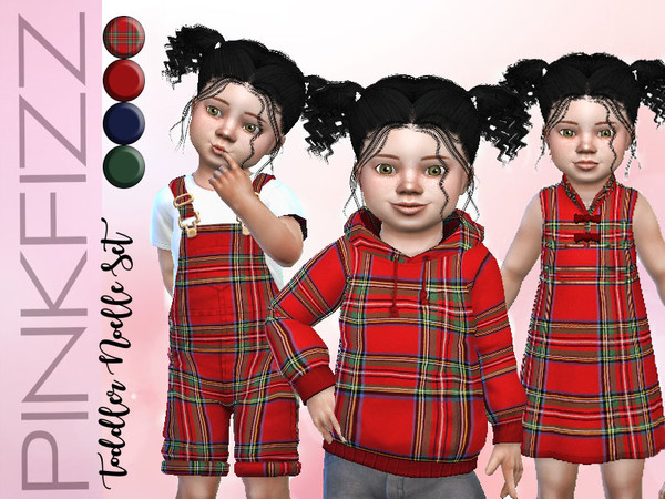 Sims 4 Toddler Noelle Set by Pinkfizzzzz at TSR