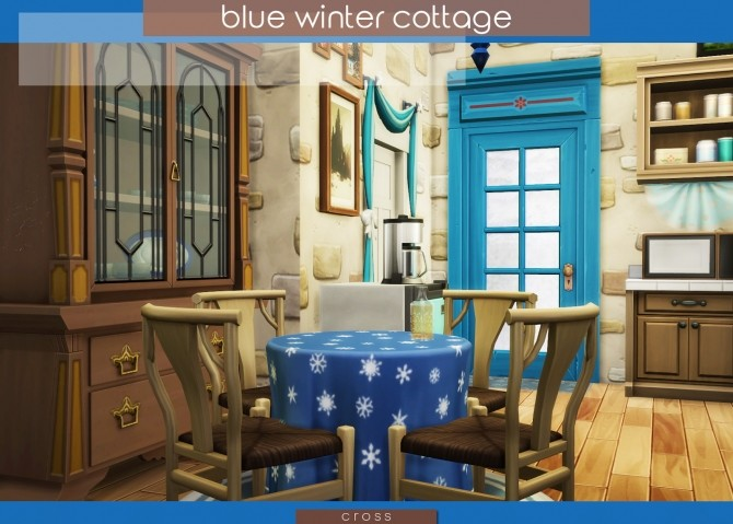 Blue Winter Cottage by Praline at Cross Design image 20113 670x479 Sims 4 Updates