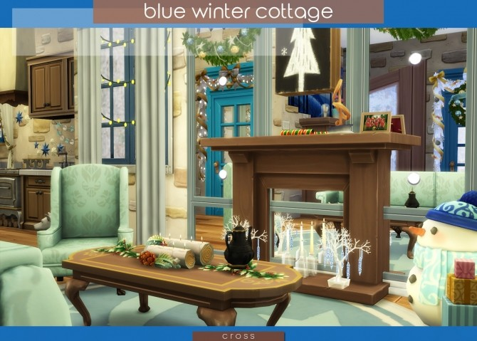 Blue Winter Cottage by Praline at Cross Design image 20211 670x479 Sims 4 Updates