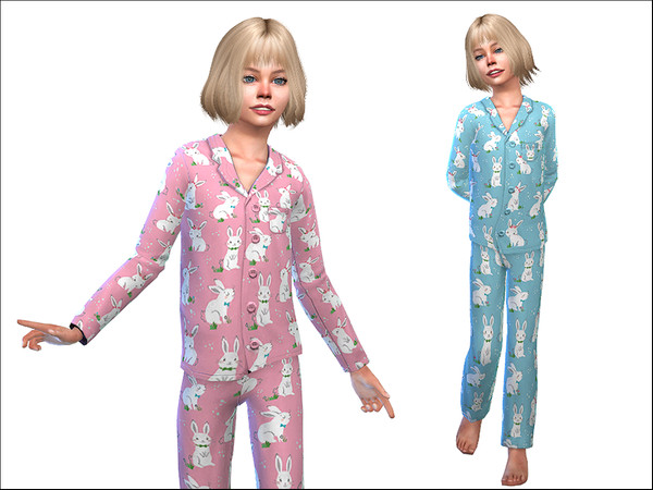Sims 4 Pajama for Girls 02 by Little Things at TSR