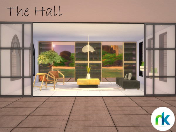 Sims 4 The Hall by nikadema at TSR
