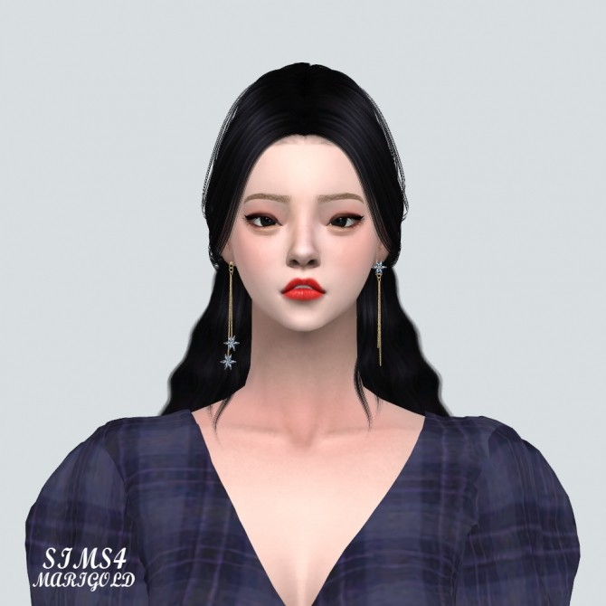 Unbalance Flower Chain Earrings at Marigold image 2051 670x670 Sims 4 Updates