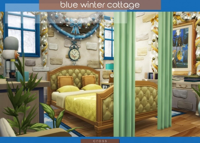Blue Winter Cottage by Praline at Cross Design image 2056 670x479 Sims 4 Updates