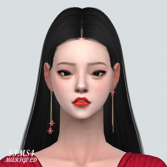 Unbalance Flower Chain Earrings at Marigold image 2061 670x670 Sims 4 Updates