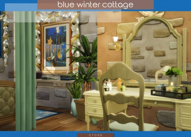 Blue Winter Cottage by Praline at Cross Design image 2066 670x479 Sims 4 Updates