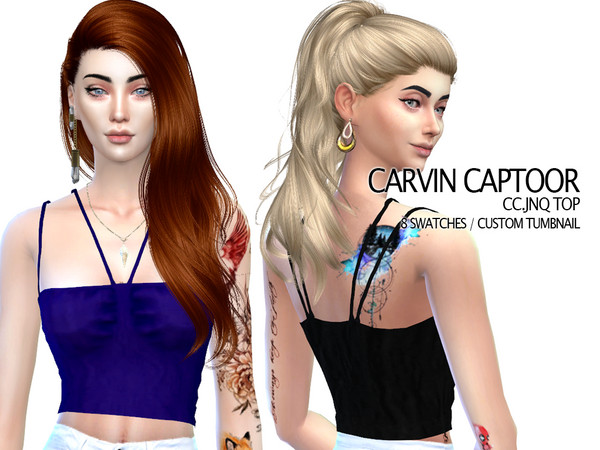 Sims 4 JNQ Top by carvin captoor at TSR