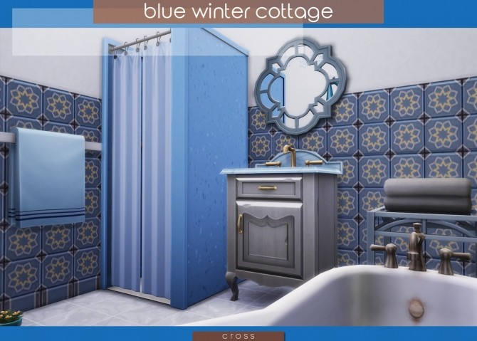 Blue Winter Cottage by Praline at Cross Design image 2075 670x479 Sims 4 Updates