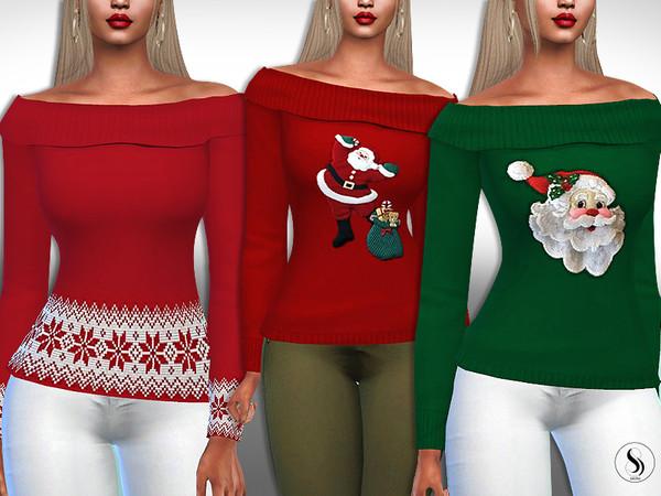 Sims 4 Santa XMas Pullovers by Saliwa at TSR