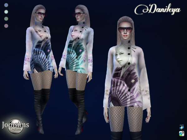 Sims 4 Danileya coat by jomsims at TSR