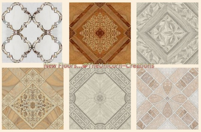 Sims 4 New floor tiles at TheUnicorn Creations