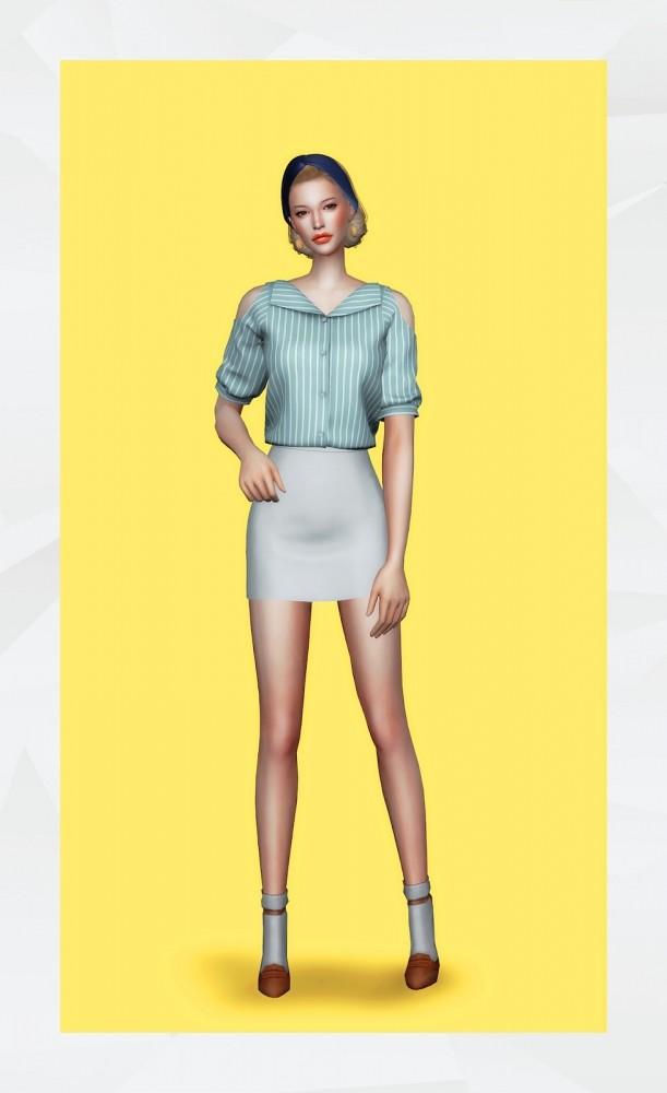 Emily Blouse at Gorilla image 2096 611x1000 Sims 4 Updates