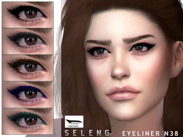 Sims 4 Eyeliner N38 by Seleng at TSR