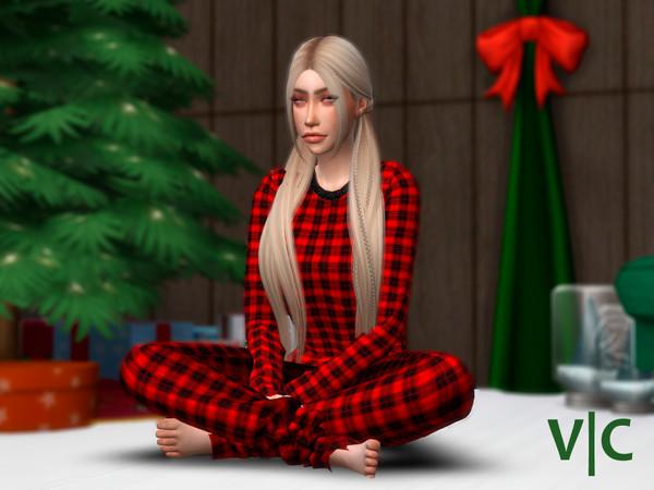 Sims 4 Trousers Christmas V|C by Viy Sims at TSR