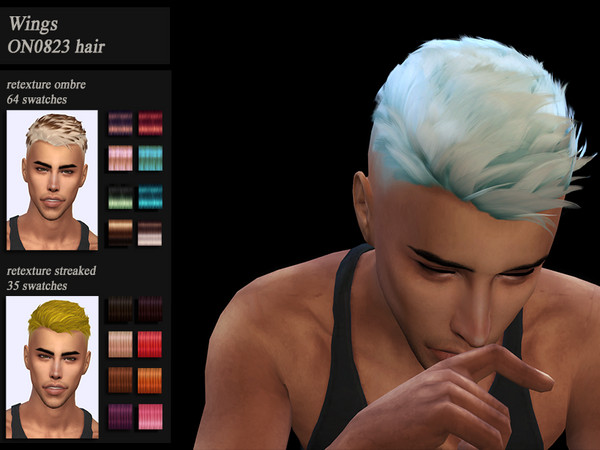 Sims 4 Male hair recolor retexture Wings ON0823 by HoneysSims4 at TSR