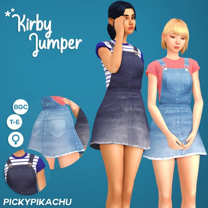 Sims 4 Kirby Jumper at Pickypikachu