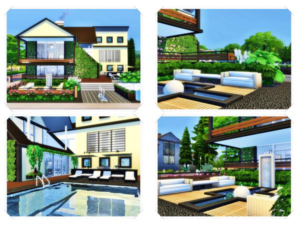 Sims 4 Yaga modern home by marychabb at TSR
