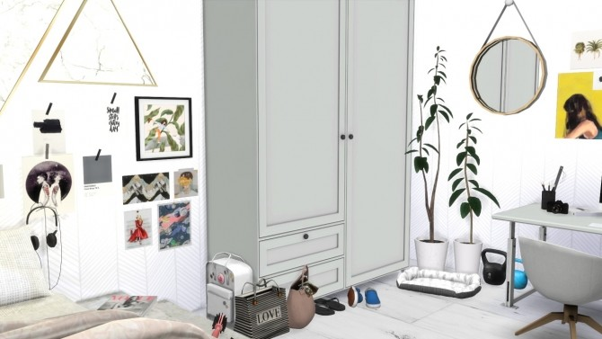 Sims 4 SCANDINAVIAN GIRLS ROOM at MODELSIMS4