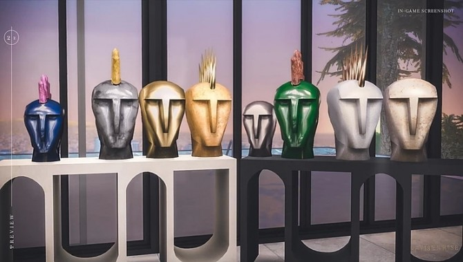 Kelly Wearstler Head Trip Sculptures by lavi3enrose at Blooming Rosy image 2186 670x379 Sims 4 Updates