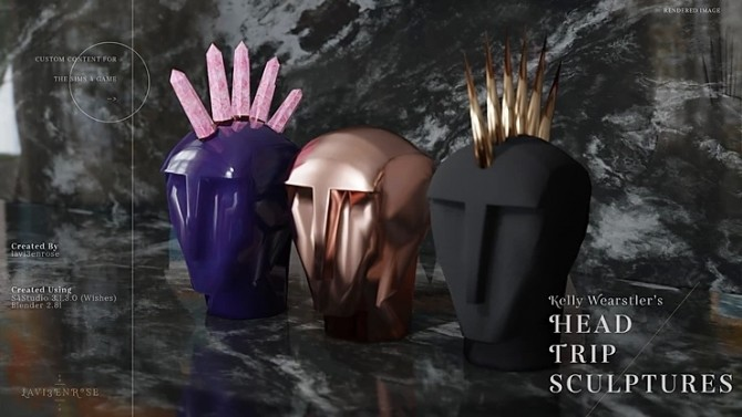 Kelly Wearstler Head Trip Sculptures by lavi3enrose at Blooming Rosy image 2196 670x377 Sims 4 Updates