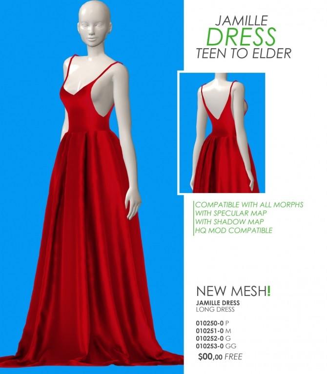 Sims 4 JAMILLE DRESS at REDHEADSIMS