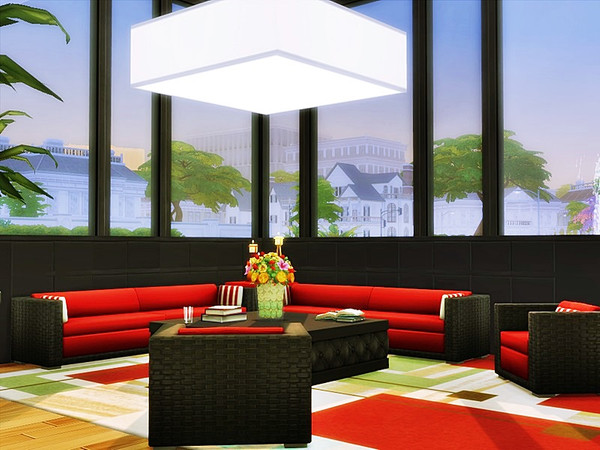 Sims 4 VALKO modern home by marychabb at TSR