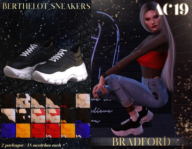 Sims 4 Berthelot Sneakers AC 2019   Day 13 by Silence Bradford at MURPHY