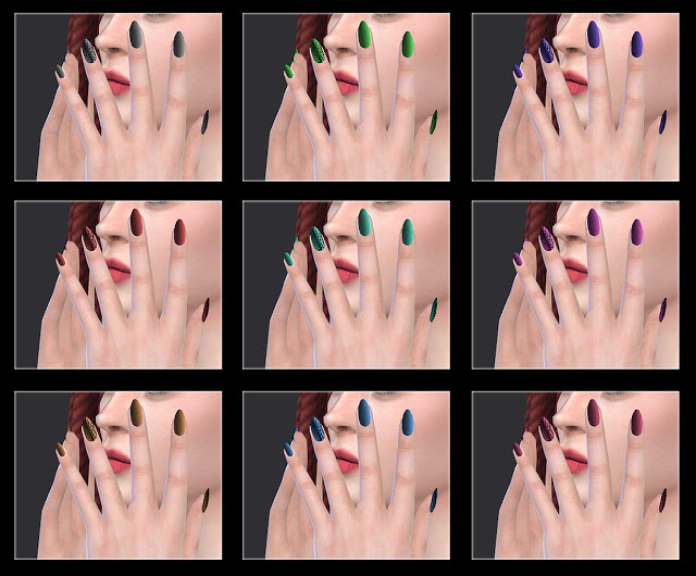 10 TS4 nails at All by Glaza image 2293 Sims 4 Updates