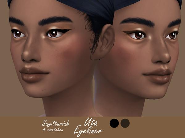 Sims 4 Uta Eyeliner by Sagittariah at TSR