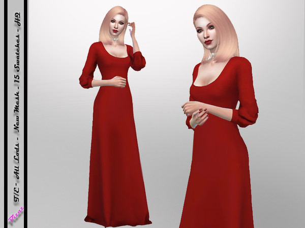 Sims 4 Full Gown by pizazz at TSR