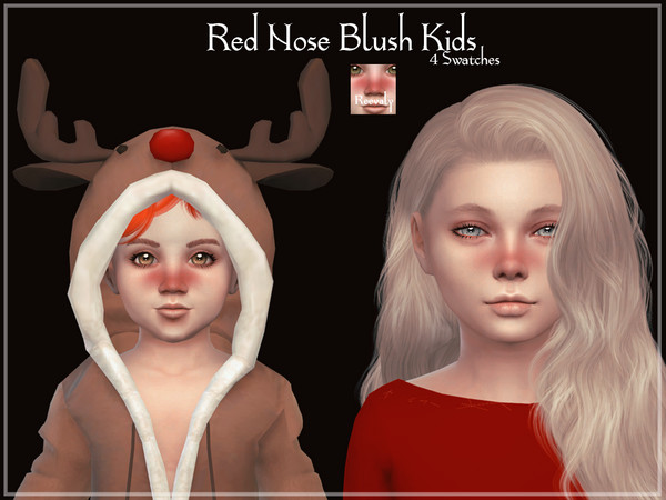 Sims 4 Red Nose Blush Kids by Reevaly at TSR