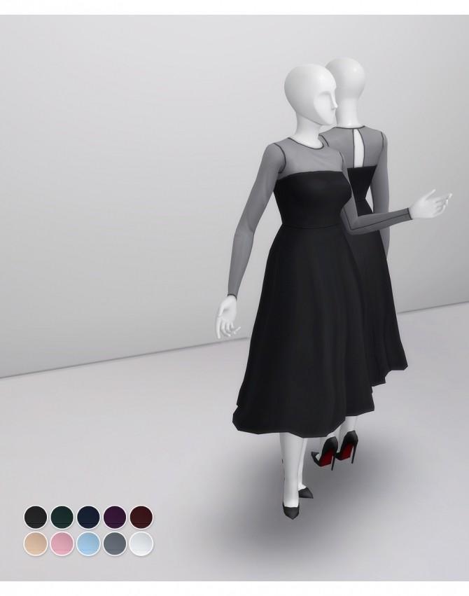 Sims 4 Mesh Flared Dress at Rusty Nail