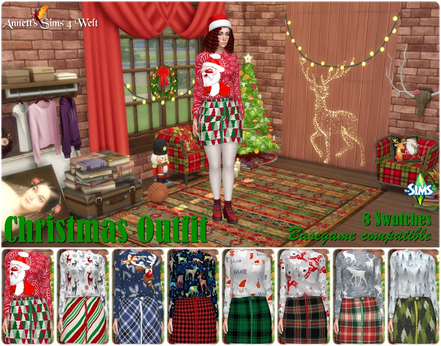 Sims 4 Christmas Outfit 2019 at Annett's Sims 4 Welt