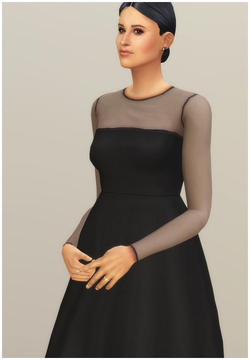 Mesh Flared Dress at Rusty Nail image 2356 Sims 4 Updates