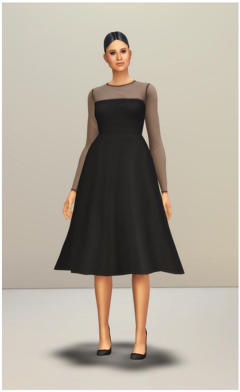 Mesh Flared Dress at Rusty Nail image 2366 Sims 4 Updates