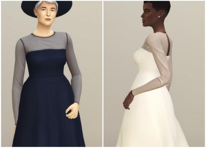 Mesh Flared Dress at Rusty Nail image 2376 670x483 Sims 4 Updates