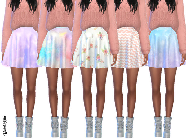 Simple Pastel Skirts by Wicked Kittie at TSR image 24 Sims 4 Updates